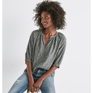 Lucky Brand button Henley Large